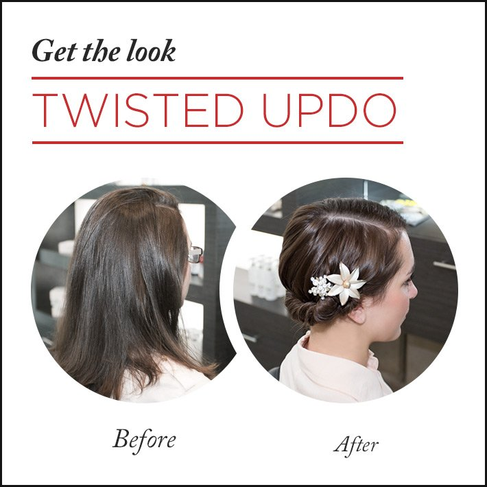 Get the Look: Simple Twisted Updo