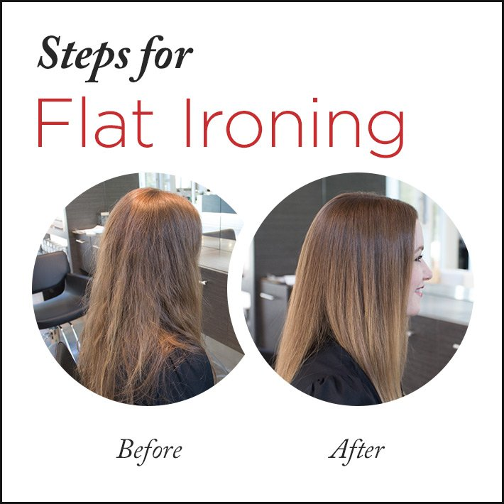 The Perfect Straight Hairdo - Flat Ironing